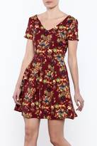 Everly Autumn Floral Dress