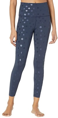 Beyond Yoga Daisy Sportflex High Waisted Midi Leggings (Nocturnal Navy/Shiny Navy Daisies) Women's Casual Pants