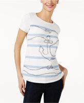Max Mara Eufrate Anchor Graphic T-Shirt