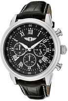I by Invicta 90242-001 Men's Chrono Black Genuine Leather and Dial SS