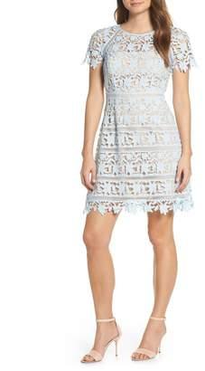 Eliza J Open Lace Dress (Regular & Petite)