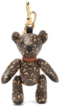 Burberry Thomas Bear Tb-monogram Leather Key Ring - Brown Multi