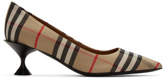 Burberry Beige Check Lillyton Heels