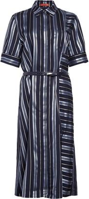 Altuzarra Belted Stripe Satin Shirtdress