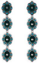 Gucci Flower earrings with velvet