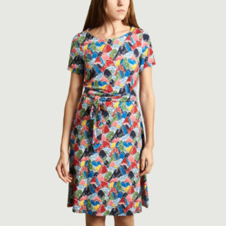 Antoine Et Lili Antoine et Lili - Multicolor Viscose Fuji Fantasy Print Dress - 1 | Multicolor | viscose