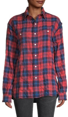 R 13 Plaid-Print Shirt