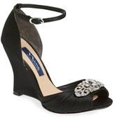 Nina Women's Edyth Swarovski Wedge Sandal