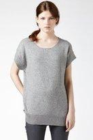 Short Sleeve Relaxed Lurex Sweater