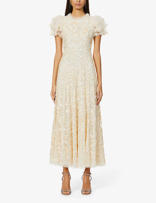 Needle And Thread Shirley Ribbon embellished woven gown