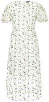 Markus Lupfer floral embroidered sheer dress