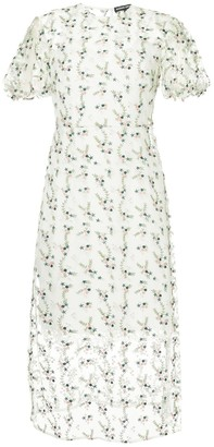Markus Lupfer floral embroidered sheer dress