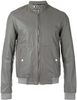 Calvin Klein Jeans banded collar jacket - men - Cotton/Leather - M