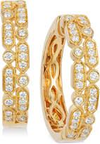 LeVian Le Vian® Vanilla® Deco EstateTM Gold Diamond (5/8 ct. t.w.) Hoop Earrings in 14k Gold