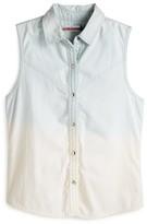Vintage Havana Girls' Denim Fringe Back Shirt - Sizes S-XL
