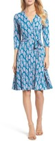 Leota Women's Print Jersey Faux Wrap Dress