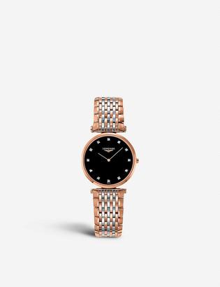 Longines L45121577 La Grande Classique rose-gold stainless steel watch