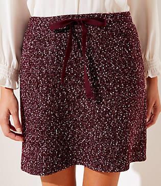 LOFT Flecked Knit Jogger Skirt