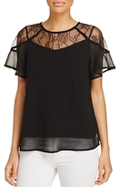 Design History Short-Sleeve Lace Top
