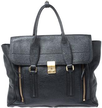3.1 Phillip Lim Black Leather Large Pashli Top Handle Bag