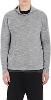 Barneys New York MEN'S FUNNEL-NECK FLEECE SWEATER