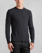 Belstaff Hadleigh Crew Neck Sweater Charcoal Melange