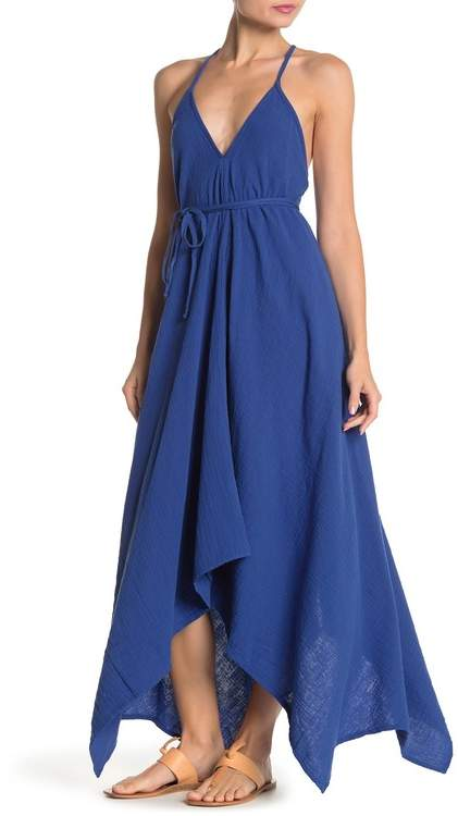 Love Stitch Wrap Around Asymmetrical Halter Dress