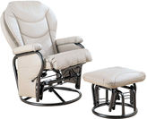 Asstd National Brand Bartly Faux-Leather Glider with Ottoman