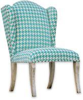 Uttermost Winesett Armless Chair in Blue/Ivory
