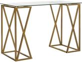 Safavieh Gold Theresa Glass-Top Desk