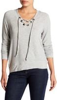 Bobeau Grommet Lace-Up Pullover (Petite)