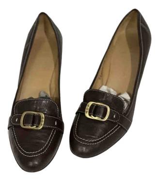 Salvatore Ferragamo Brown Leather Heels