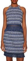 Timo Weiland Intarsia Fringed Halter Top