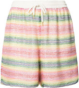 Ashish beaded striped shorts - women - Silk/Polyester - S