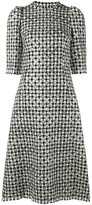 Dolce & Gabbana houndstooth polka dot dress - women - Silk/Polyamide/Spandex/Elastane/Virgin Wool - 38