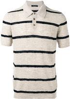Roberto Collina polo top - men - Cotton/Linen/Flax/Polyester - 48