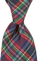 Roundtree & Yorke Trademark Merry Christmas Plaid Traditional Silk Tie