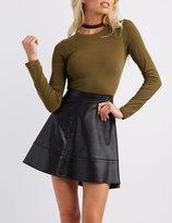Charlotte Russe Crew Neck Long Sleeve Tee