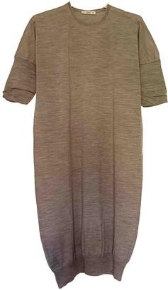 Prada Ecru Wool Dresses