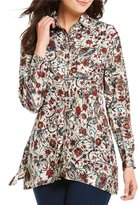Westbound Floral 2 Pocket Tunic Top