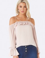 Forever New Strappy Frill Bardot Top