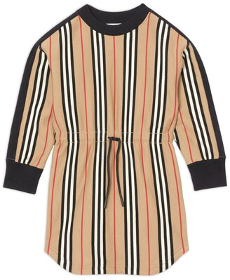 Burberry Kids Icon Stripe Cotton Sweater Dress (3-12 Years)