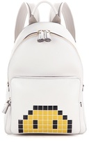 Anya Hindmarch Mini Pixel Smiley Leather Backpack
