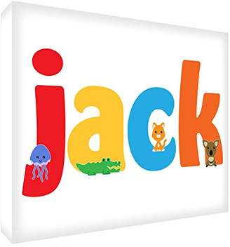Camilla And Marc Feel Good Art Gallery Wrapped Nursery Box Canvas with Solid Front Panel (30 x 40 x 4 cm, Jack)
