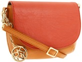 DKNY - Distressed Leather Mini Flap Crossbody