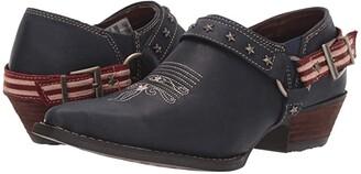 Durango Crush Flag Harness Shoe Boot (Glory Blue) Women's Boots
