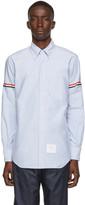 Thom Browne Blue Classic Point Collar Armband Shirt