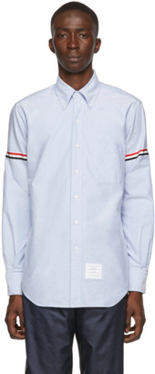 Thom Browne Blue Classic Point Collar Armband Shirt