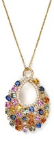 """Bloomingdale's Diamond and Multi Sapphire Pendant Necklace in 14K Yellow Gold, 16"""""""