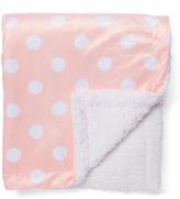 Pink Polka-Dot Minky Stroller Blanket
